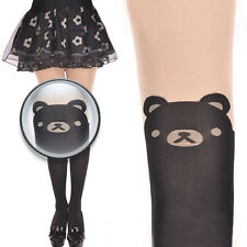 Trendy Kawaii Bear Print Knee Thigh-High Socks Tattoo Stockings Pantyhose
