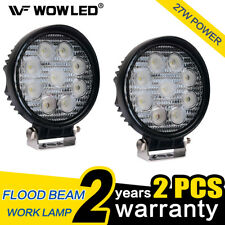 WOW - 2 X 27W LED Work Light Round Flood Offroad Driving Lamp Truck ATV 4X4 Jeep