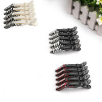 5X Hairdressing Hair Salon Sectioning Crocodile Grip Clips Clamps Hairpins #LAC