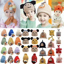 New Fashion Cute Baby Girl Boy Toddler Winter Warm Crochet Knit Hat Beanie Cap