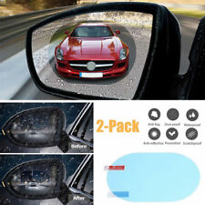 2Pcs Auto Rainproof Rearview Mirror Anti Fog Protective Film Accessory Oval