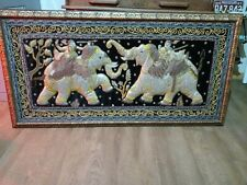 """31""""x61""""  Exquisite Antique  3D Elephant  Tapestry Oriental Wall Hanging  framed"""