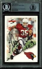 Cardinals Aeneas Williams Authentic Signed Card 1995 Score #29 BAS Slabbed