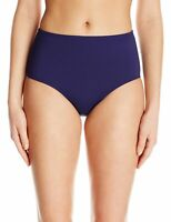 Anne Cole Women's Swimwear Blue Size Small S High Waist Power Mesh $54 #108