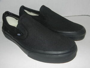 Vans BLACK SLIP ON  LOW Classic  MENS SIZE 8   (WOMENS 9.5 )