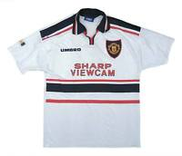 Manchester United 1997-98 Authentic Away Shirt (Excellent) L Soccer Jersey