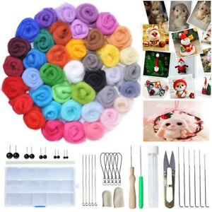 40 Farben Werkzeugset Wollfilznadeln Filz Werkzeugset Nadel Handgemacht
