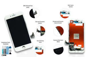 iPhone 8 Plus (5.5) WHITE LCD Screen Replacement *Life time Guarantee*