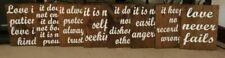 Corinthians 13 Wood Wedding Aisle Signs, love is patient, love is kind, set of 8