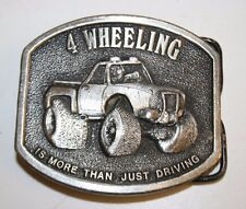 1976 Vintage 4-Wheeling Is More Than Just Driving 4x4 Mudding Belt Buckle