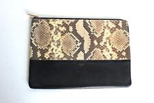 3027284687 Celine Bi-color Python Snake Skin Solo Clutch Pouch Leather