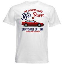 VINTAGE JAPANESE AUTO HONDA PRELUDE-Nuovo T-shirt di Cotone