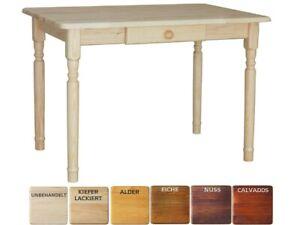 Holz Esstisch Küchentisch Schublade Tisch Kiefer massiv Restaurant Tische NEU
