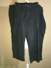 Merona Dark Blue Wash Cargo Capris Size 18 Fit 4