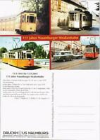 Naumburg (Saale) 111 Jahre Naumburger Straßenbahn Mehrbild-AK 4x Tram Motiv 2003