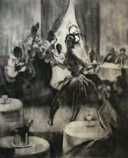 Joséphine Baker et ses musiciens 1925 Revue nègre Folies bergère Jazz Cabaret