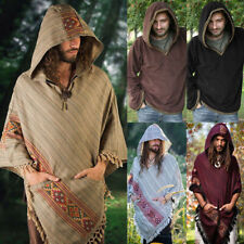 Medieval Renaissance Viking Men Pirate Loose Tops Tunic Shirt Halloween Cosplay