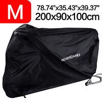 NEVERALND M Waterproof Motorcycle Motor Bike Moped Cover Rain UV Protector Black