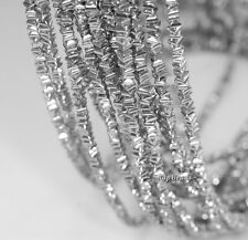 "3X2MM SILVER HEMATITE GEMSTONE SILVER SQUARE DIAMOND 3X2MM LOOSE BEADS 15.5"""