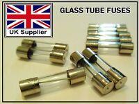 FUSES 5x20mm Quick FastBlow Glass Tube Fuse 1/2/3/4/5/6/10/15/20/25/30 Amp 250V