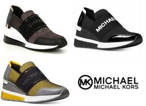 MICHAEL Michael Kors FELIX Logo Slip-On Scuba Wedge Sneakers