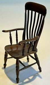 Handmade & Signed & Dated 1985 David Booth Windsor Style Country Armchair