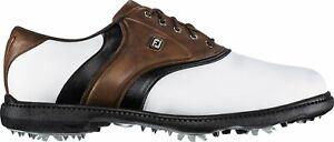 NIB MEN FOOTJOY 45330 FOOT JOY FJ ORIGINALS GOLF BROWN/WHITE SNEAKERS SHOES $90