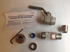 "Rosemount Emerson 2376500 Retraction Assembly Kit with 1-1/4"" Ball Valve"