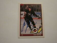 PETR NEDVED SIGNED AUTOGRAPHED 1991 TOPPS CARD CANUCKS