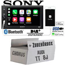 Radio Sony Bluetooth | DAB+ | Apple CarPlay | TFT USB Einbauset für Audi TT 8J