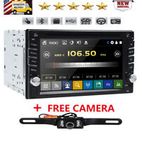 """Double 2Din 6.2"""" Car Stereo Radio DVD Player Bluetooth MP3 AUX+Backup Camera GPS"""