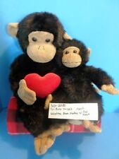 Target Tri-Russ Monkey with Red Heart and Small Monkey Beanbag plush(310-2081)