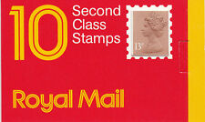 GB: 1987: 10 x 13p, Window Booklet, Barcode 5 014721 100043, square catch