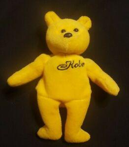 KOBE BRYANT LA Lakers 23 Karat Gold'n Bears 1999 NBA Plush Beanie Series 1
