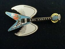 Hard Rock Cafe pin Los Angeles City of Angels winged Flying V Guitar