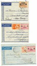 NED INDIE DUTCH INDIES  3 x  FLIGHT COVER  F/VF  @2
