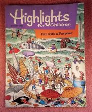Highlights For Children Magazine August 1995 Fun with a Purpose