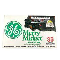 Vtg GE Merry Midget Set Of 35 Christmas Lights NEW In Box