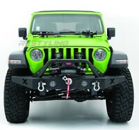 Rock Crawler X Front Bumper+Fog Light Hol+Winch Plate for 18-19 Jeep Wrangler JL