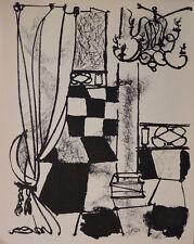 """André MARCHAND (1907-1997) Lithographie de 1950 """"Le Patio"""" textes André Gide"""
