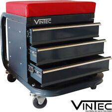 Vintec Fahrbarer Werkstatt Sitz Werkstattwagen Werkzeugwagen Werkzeug Rollwagen