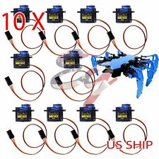 10X 180° 9g Micro Servo SG90 Motor RC Robot Helicopter Airplane Remote Control