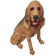 "Vintage Large Sitting BloodHound Dog Resin Figurine 10"" Tall - No box"