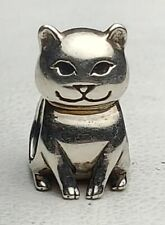 CHAMILIA STERLING SILVER CAT CHARM-FREE USA SHIPPING-SMILING KITTY