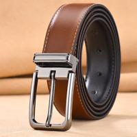 Men's Genuine Leather Casual Belt Pin Buckle Waist Strap Belts Waistband  jeans