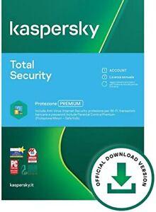 Kaspersky Total Security 2021 5 PC / Dispositivi 1 ANNO incl. Antivirus UE IT