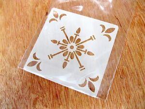 Fleur De Lis Tile Crafting Stencil 10cm or 15cm Option Washable Reusable Mylar