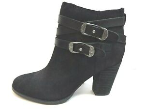 Reba Size 8.5 Black Leather Ankle Boots New Womens Shoes