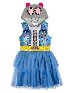L.O.L. Surprise! Girls Halloween Costume Tutu Dress Size 4-12 LOL Doll Hood NWT