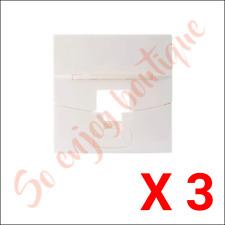 3M FP4MF1KW - lot 3 Enjoliveurs / Faces avant 45x45 pour 1 poste RJ45 - Blanc